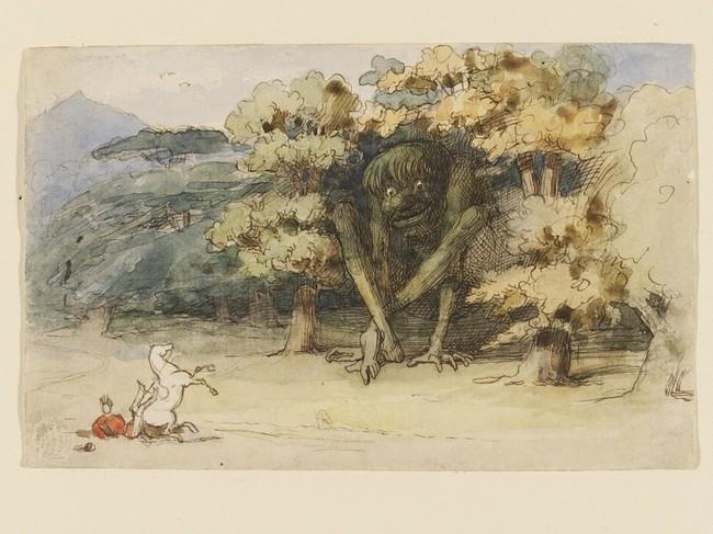 Richard Doyle - The Knight and the Jötun, 1865-75