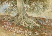 Richard Doyle - Elves in a Rabbit Warren, 1875