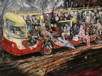 Bronisław Wojciech Linke - The Painter and his Bus, 1961