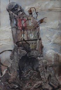 Bronisław Wojciech Linke - Execution In The Ruins Of The Ghetto, 1946