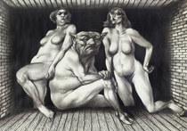 Adam Hoffmann - Satyr and Nymphs, 1975